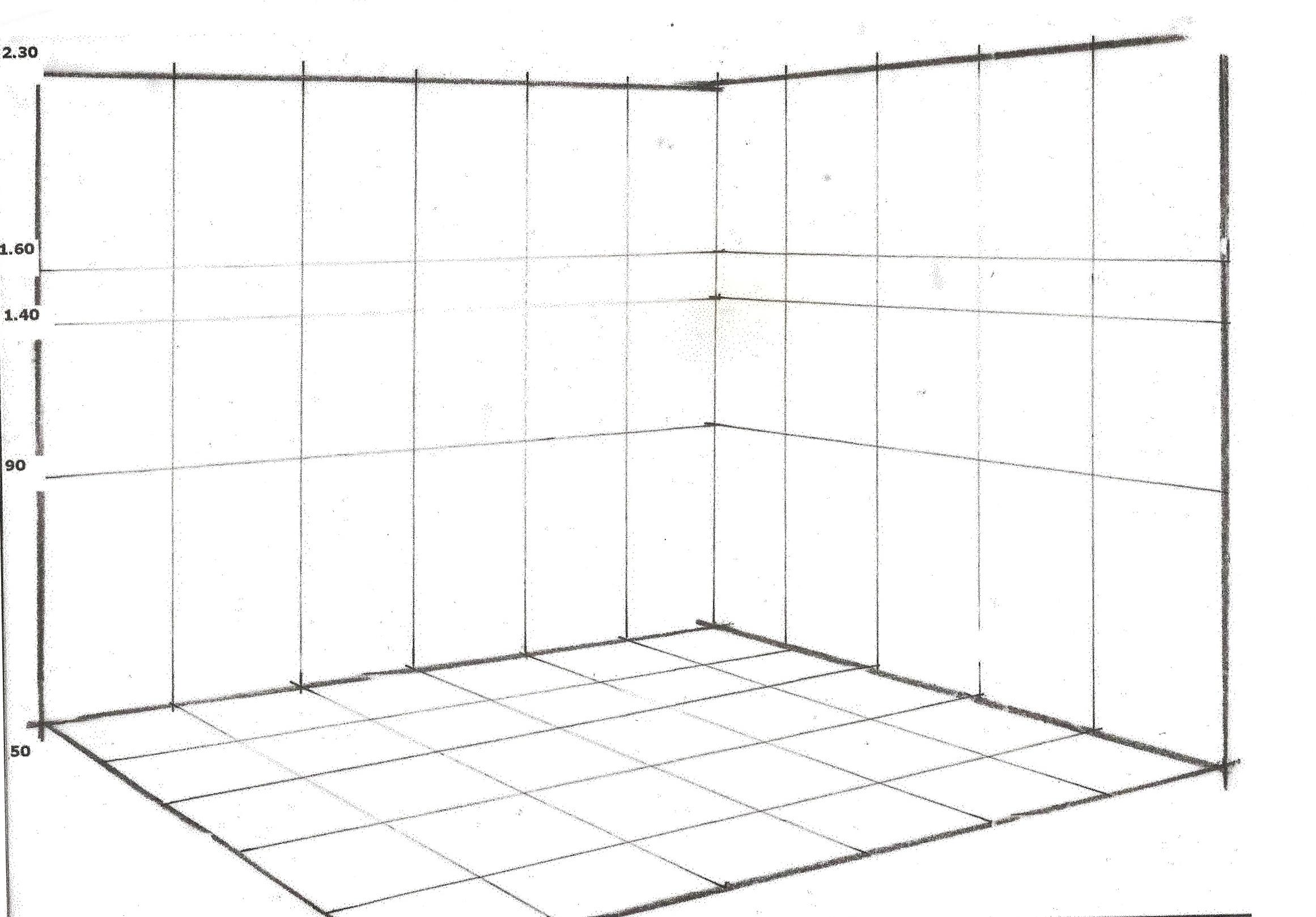Realizacion de perspectiva axonometrica planta oblicua y conica de 2 puntos de fuga - Habitacion en perspectiva conica ...